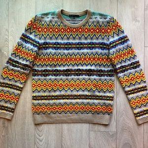 Gucci Fair Isle Wool Cashmere Sweater FW15